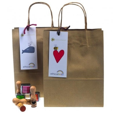 100% recycled natural party bag