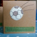 Handmade Cards Recycled Football