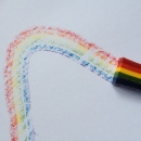 Wax Rainbow Crayon