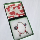 Red Berry Charm Bracelet in Fox Box