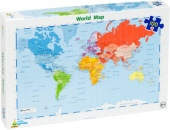 World Map Jigsaw puzzle recycled