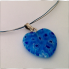 Heart Necklace Saphire