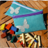 Pencil case with wax blocks Crayons