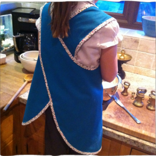 Handmade Reversible Apron back