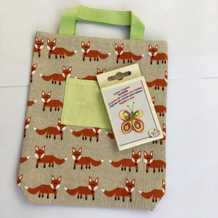 Bag Fox Fabric Crayons