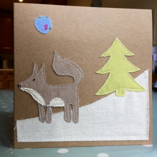 Handmade Cards Recycled Faun Snow Fox