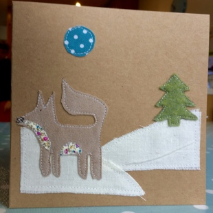 Handmade Cards Recycled Football Fox