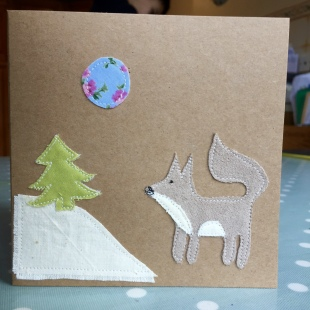Handmade Cards Recycled Snow Fox