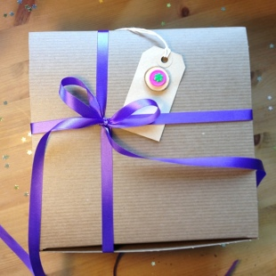Purple Eco Gift Ribbon