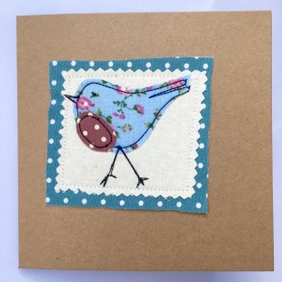 Recycled Bird Blue Card