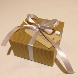 Recycled Gift Box with eco ribbon