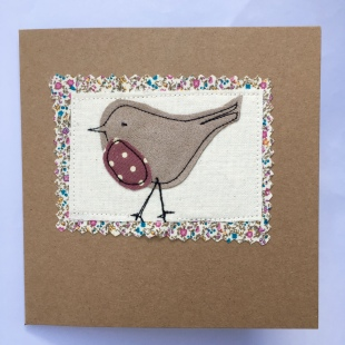 Recycled Robin Card