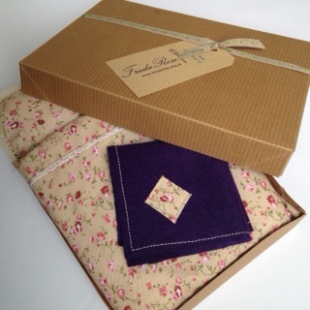 Doll's Bedding in Recycled Gift Box