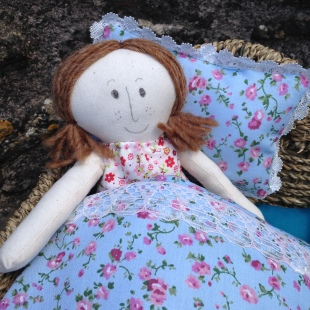 Rag Doll in Bed
