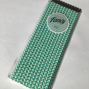 Eco paper straws green