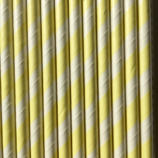 Spiral Yellow paper eco straws