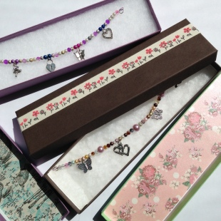 Charm Bracelets in long Gift Boxes