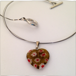 Heart Necklace Toffee