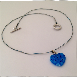 Heart Necklace Toggle Clasp