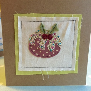 Christmas Card Pud Recycled