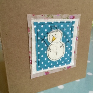 Christmas Card Recycled Snowman