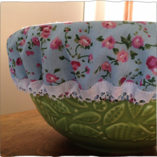 Handsewn Pot Covers Blue Roses