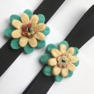 Fairtrade flower hairbands