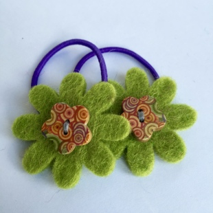 Green Fairtrade Flower Button