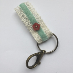 Keyring Recycled Buttons