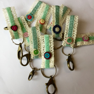Lace Key Rings