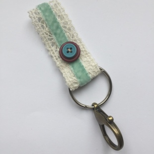 Lace Keyring Purple and Turquoise
