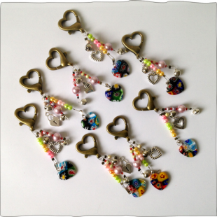 Large Heart Key Rings
