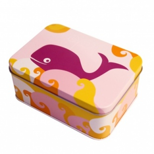 Rectangle Tin Sandwich Box Whale
