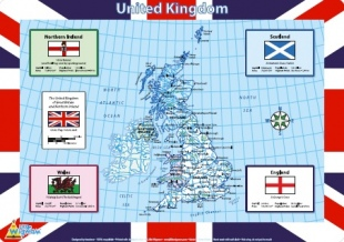 UK Map placemat