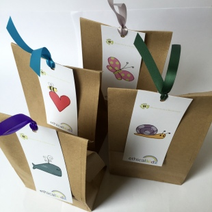 Party Bags with Recycled Label