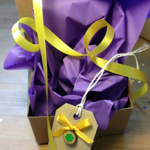 Purple Eco Tissue Paper and Ribbon
