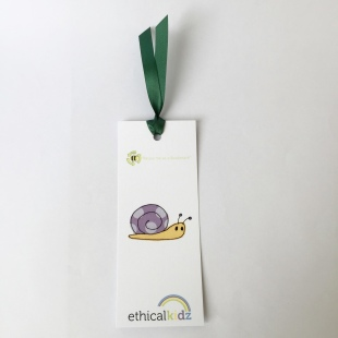 Recycled Bookmark Snail