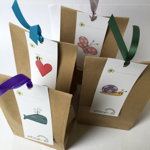 Recycled Kraft Party Bags