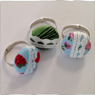 Hand decorated rings all designs