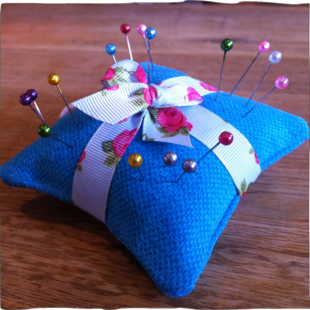 Handsewn Pin Cushion with pins