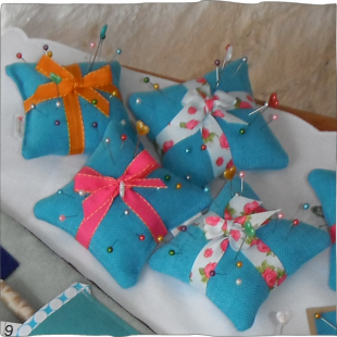Pin Cushions with pins
