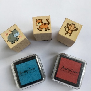 Stamps Hippo Tiger Monkey