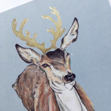 Deer Card Gold 2