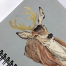 Deer Note book Gold 1