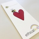 Heart & Bee Bookmark recycled
