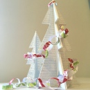Wooden Christmas Tree with paper chains 1