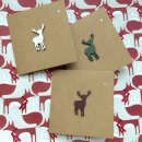 Recycled Card Stag Green Red White