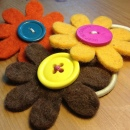 Large Fairtrade Felt Hair Bobbles