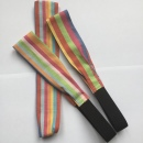 Rainbow Hairbands Organic Fabric