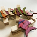 Fish Wooden Pegs